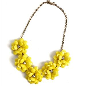 J. Crew Vibrant Yellow Flower Statement Necklace